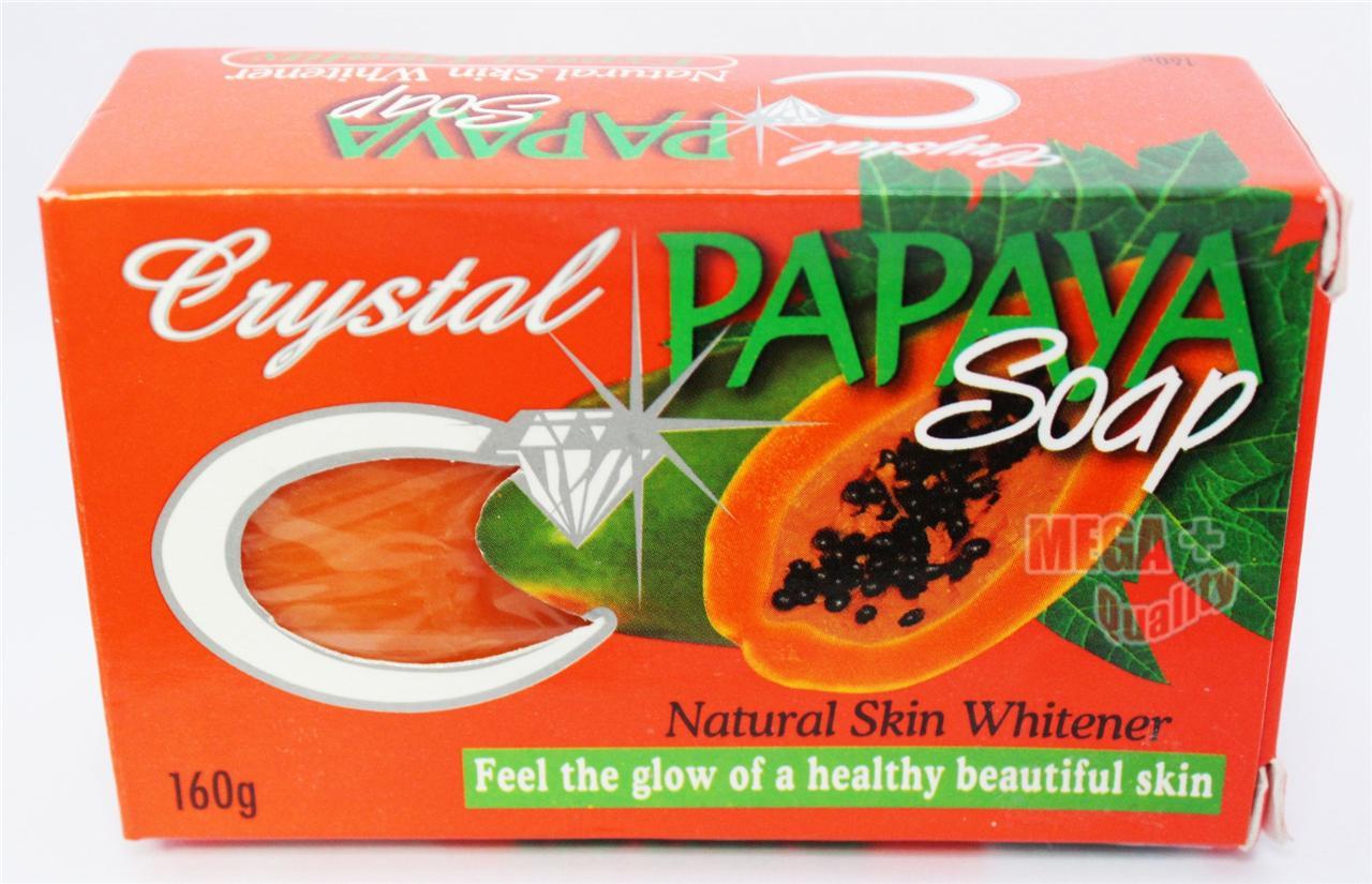 Crystal Papaya Herbal Soap Skin Whitening Lightening ...