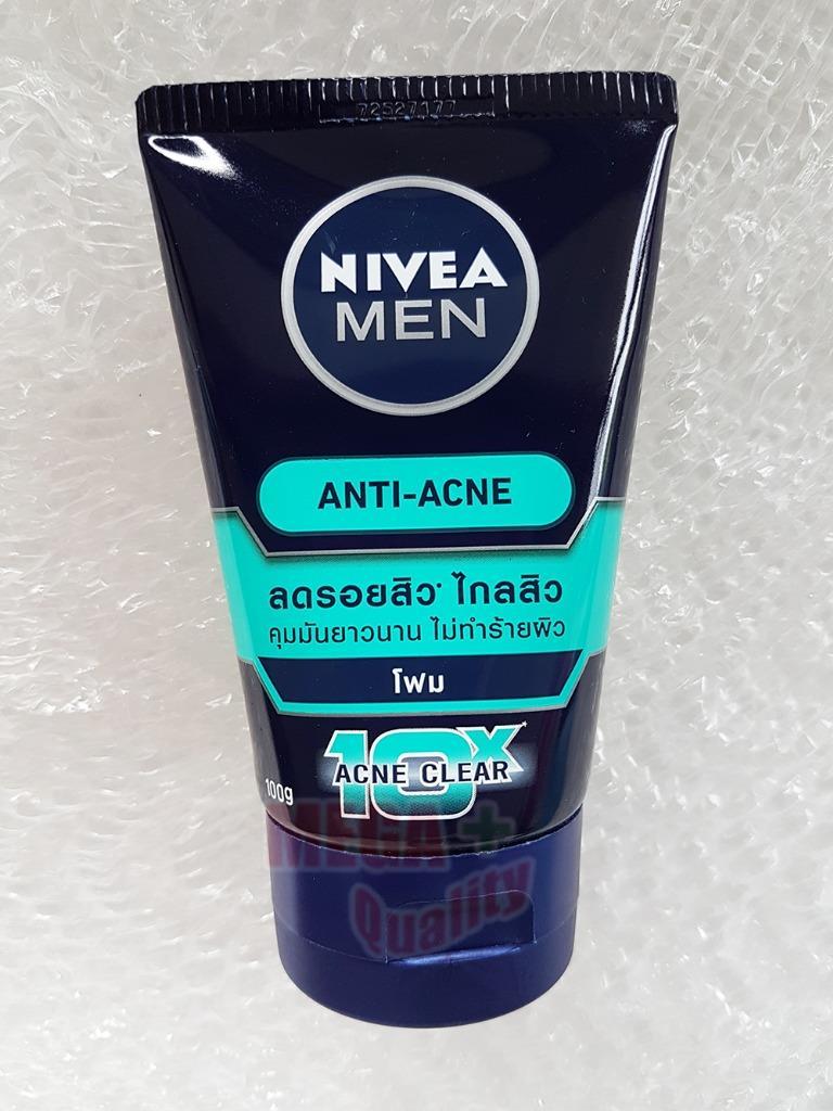 Details about Nivea MEN Oil Control 10x Acne Clear Facial Foam reduces  excess oil 100g 635d02b1f77