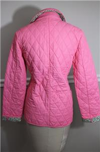 Vineyard Vines Women S Pink Pineapple Quilted Jacket Size