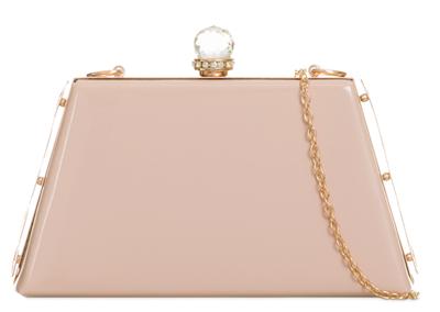Top da donna con cristallo forma trapezoidale brevetto CLUTCH Bags Borsa a tracolla borsa Ragazze