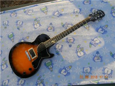 epiphone les paul junior rockfield mafia pickup grover style tuners more upgrade 711106325200 ebay. Black Bedroom Furniture Sets. Home Design Ideas