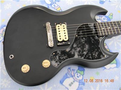 epiphone sg junior custom shop electric guitar worn black nice upgrades rocks 886830856419 ebay. Black Bedroom Furniture Sets. Home Design Ideas
