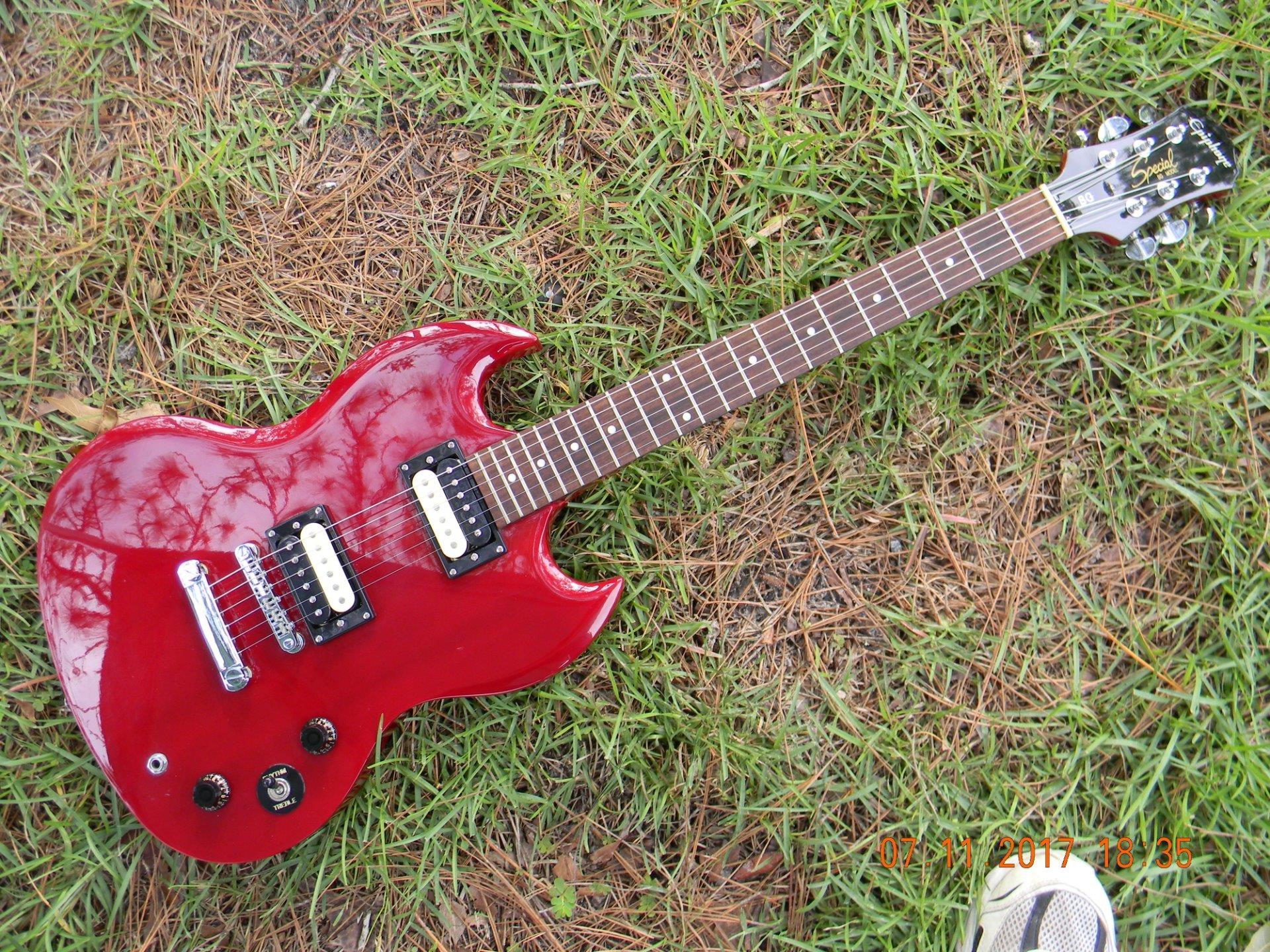 epiphone sg special electric guitar hot hmv zebra pickups tuners upgrades ebay. Black Bedroom Furniture Sets. Home Design Ideas