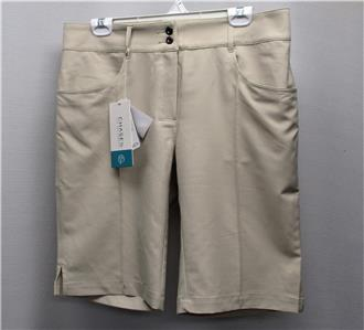 e188eea6e New Womens Chase 54 Jenna beige Bermuda gold shorts Size 10 ...