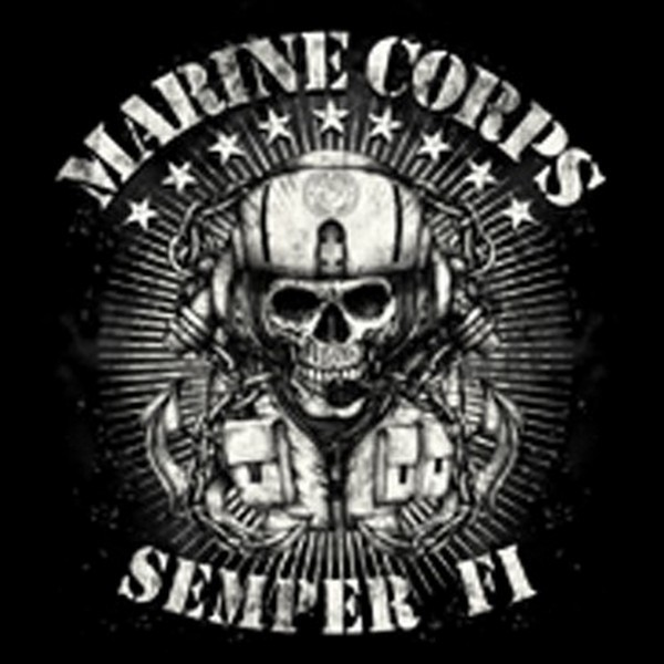 New USA USMC Marine Corps Semper Fi Skull T Shirt LS SS s 3XL Support The Troops