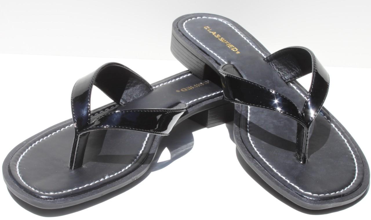 Classified Black Flip Flops Shoes Womens Retail 49  Ebay-5997