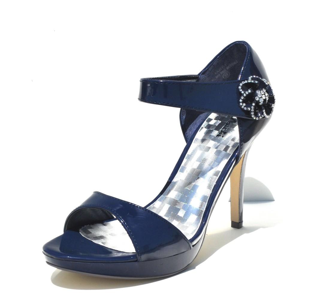 Machi Navy Blue Slingback Sexy High Heel Women Sandals ...