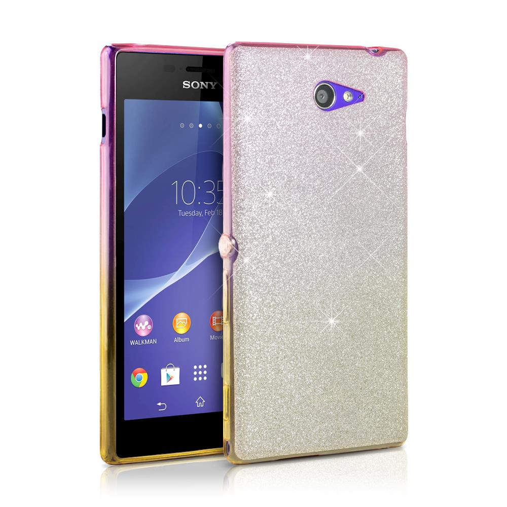 pretty nice 52942 7be43 Details about Sony Xperia M2 Glitter Crystal Bling Bling TPU Silicone Phone  Case Cover