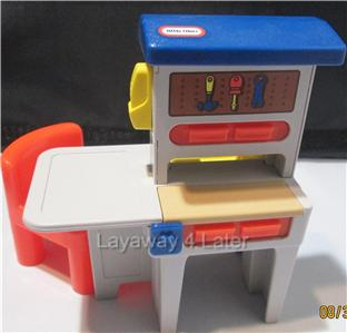 Little Tikes Dollhouse Size Work Bench Amp Red Chair 2 Pc