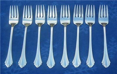 Oneida Usa Stainless Flatware Bancroft Fortune Lot Of 42 Pieces Set For 8 Ebay