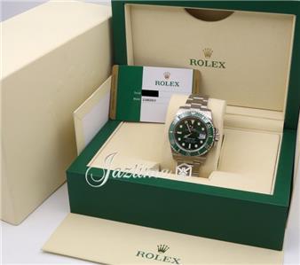 fd5c7a3d305 Rolex Submariner Ceramic 116610LV Hulk Men s 40mm Green Date Steel BOX  PAPERS