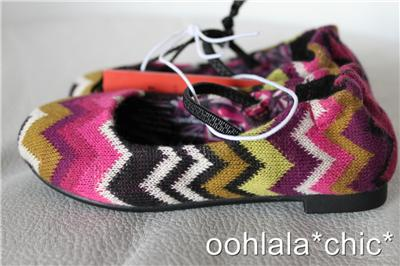 5496084bdb85 MISSONI FOR TARGET Baby Toddler Girls Knit Zig Zag Ballet Flats Shoes