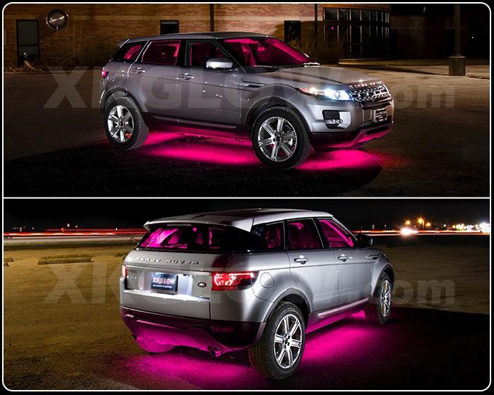 Neon Car Lights: Pink 14pcs LED Under Car Glow Underbody System Neon Lights