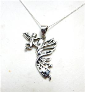 Beautiful Angel Baby and Mother Fairy Necklace sterling .925 silver mum child
