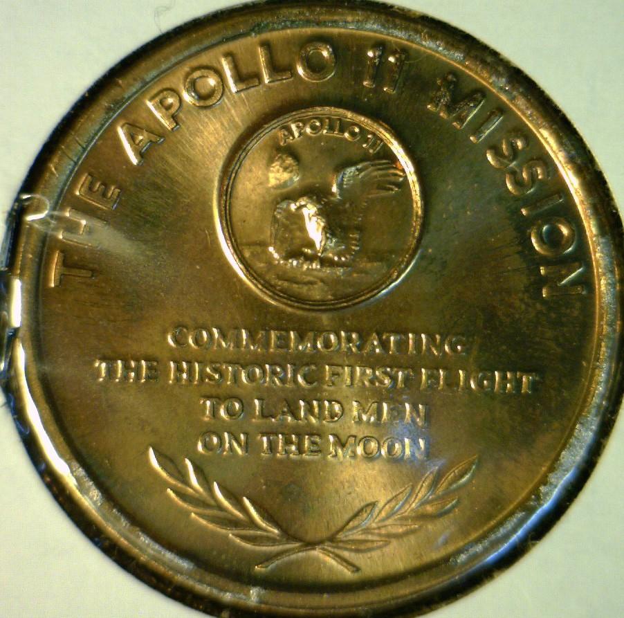 apollo xi commemorative token - photo #19