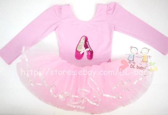 Pink White Black Baby Toddler Girl Leotard Ballet Tutu Costume Dress 3 8 Yrs