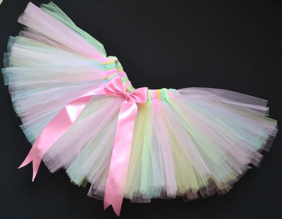 Handmade Party Costume Ballet Kids Dancing Girl Toddler Child Baby Tutu Skirt
