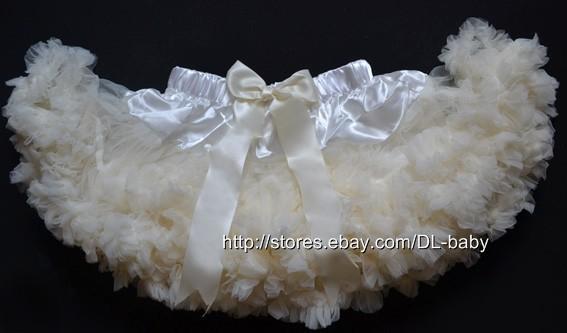 Ivory Girls Kids Children Tutu Ballet Dancer Skirt Costume 1 6 Y