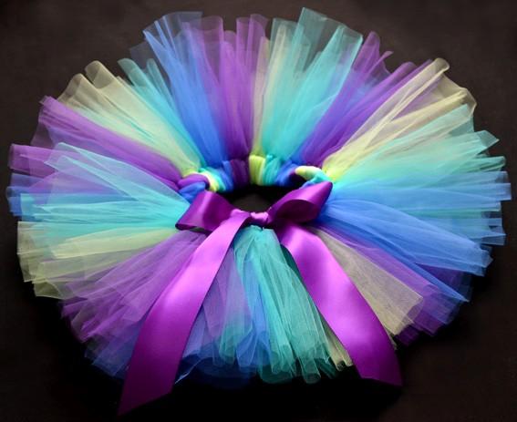 Purple Party Costume Ballet Dancing Girl Toddler Child Baby Tutu Skirt O 5yrs