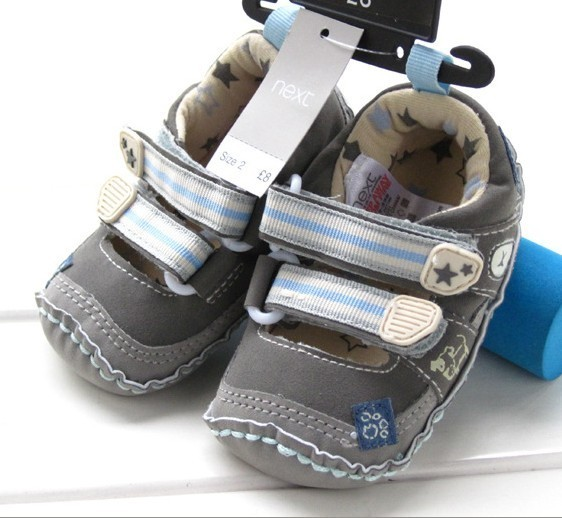 CHiU Chu with Double Strap Baby Boys & Girls Blue Booties-9-15 Months(C02-Star-Blue-4)