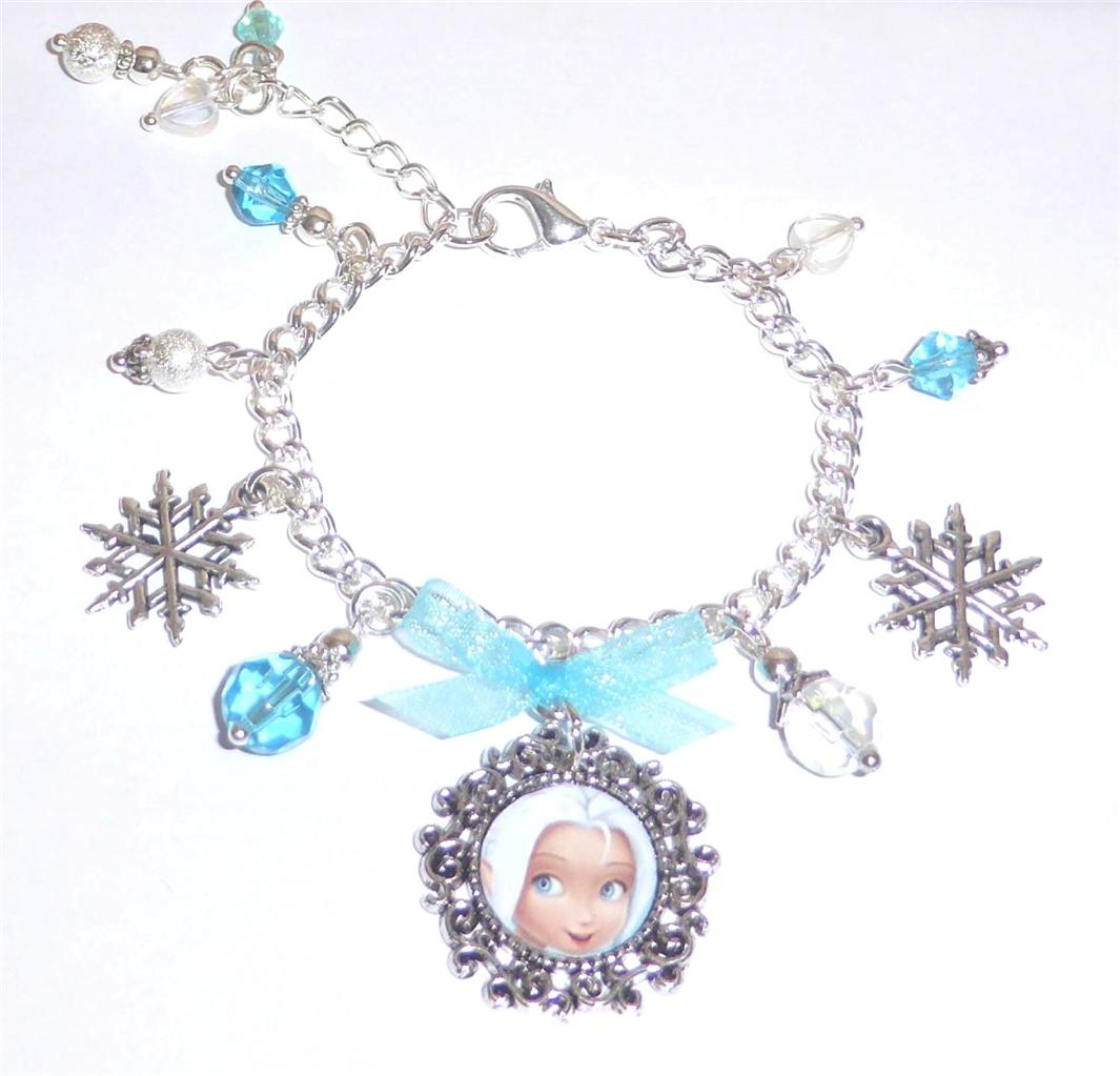 Tinkerbell Charm Bracelet: Periwinkle Fairy Pixie Crystal Charm Bracelet