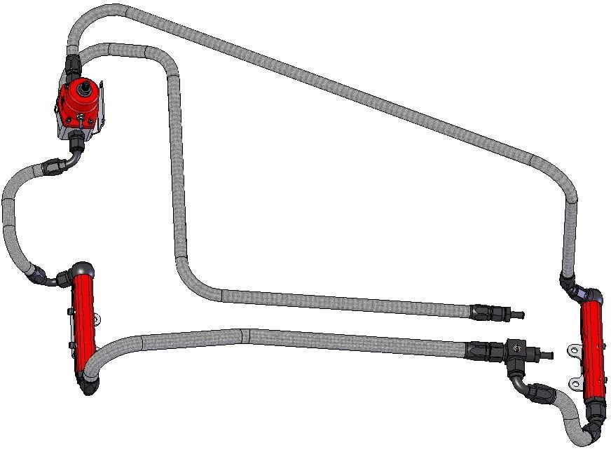 Aeromotive Top Feed Fuel Rail Kit Subaru 02 06 Wrx 07 Sti