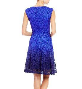 54c9c9f5cb6 LESLIE FAY Glitter Lace Fit-and-Flare Dress