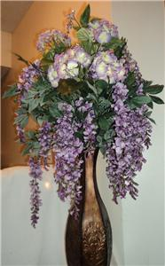 Violet Wisteria Bush Hydrangea Floral Arrangement By Thudz04 Offeritem Item Number 84857