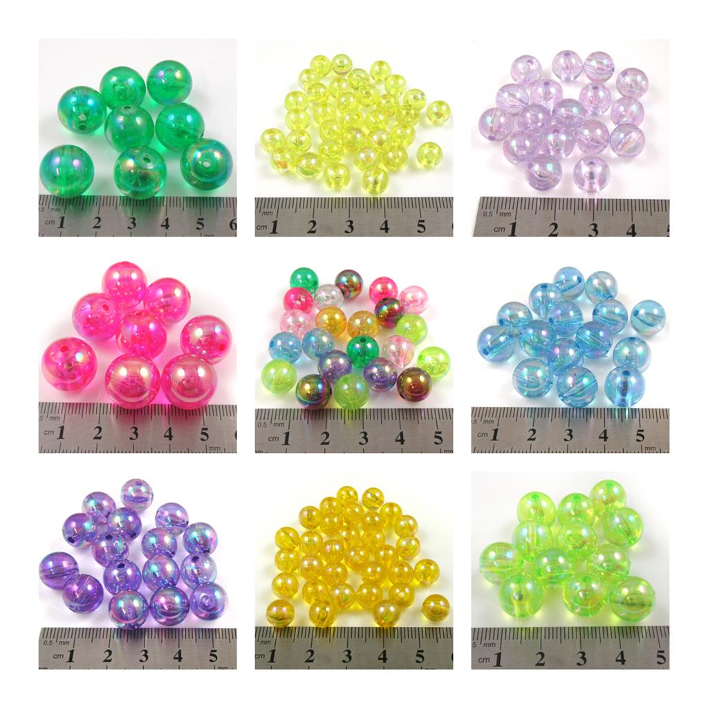 8mm,10mm,12mm /& 14mm *CLEARANCE* Acrylic Faux Pearls 5 Colours Available.