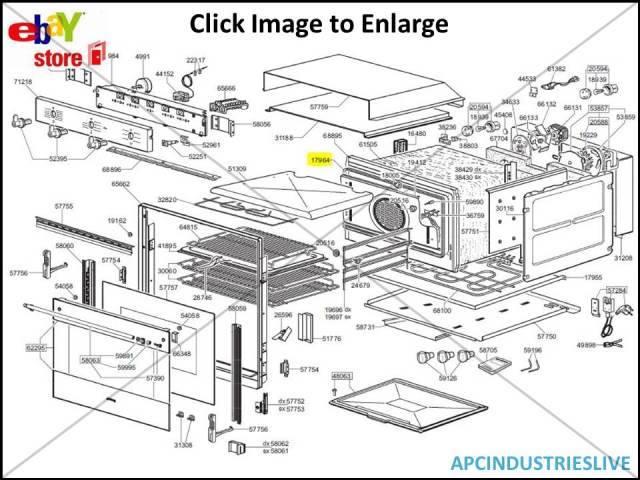 Genuine Smeg Oven Door Seal Full Door Part   754131959