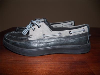 94303690fac NEW Mens COLE HAAN Black   Grey TRUMAN 2 Eye II Leather Boat Boating Shoes  7.5