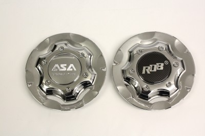 ASA Rob Licensed by BBs Chrome Wheel Center Cap RS2 04