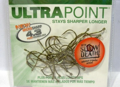Package of 25 Size 2 Mustad Slow Death Bronze Ultra Point ...