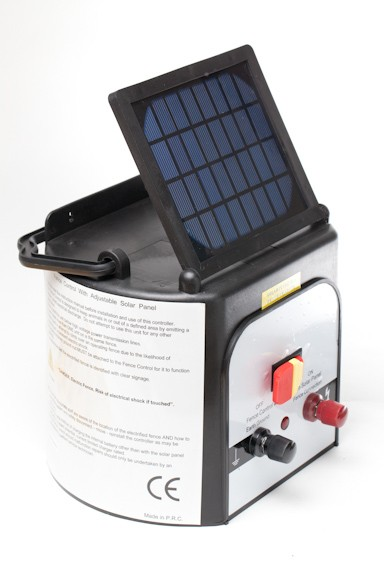 8km 0.3J Electric Fence Solar Power Energiser Charger Farm ...