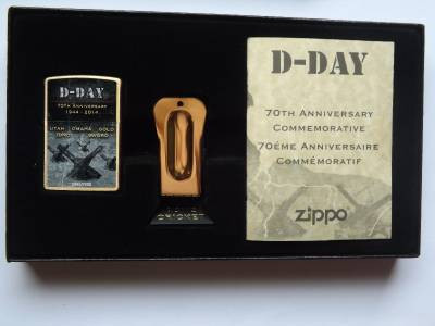 Zippo D Day 70th Anniversary Lighter Amp Cricket Limited Edition Commemorative