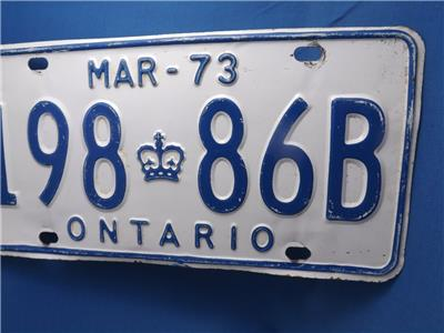 Man Cave Stores In Ontario : Ontario license plate b vintage muscle car man cave
