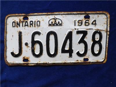 Man Cave Stores In Ontario : Ontario license plate j set pair canada man cave sign
