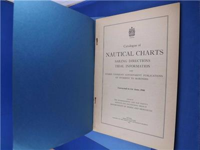 Details about CATALOG NAUTICAL CHARTS SAILING DIRECTIONS TIDAL INFORMATION  1946 FOLD OUT MAPS