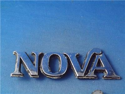 Details about CHEVY NOVA CUSTOM METAL CAR EMBLEM LETTERS LOGO LOT OF 2