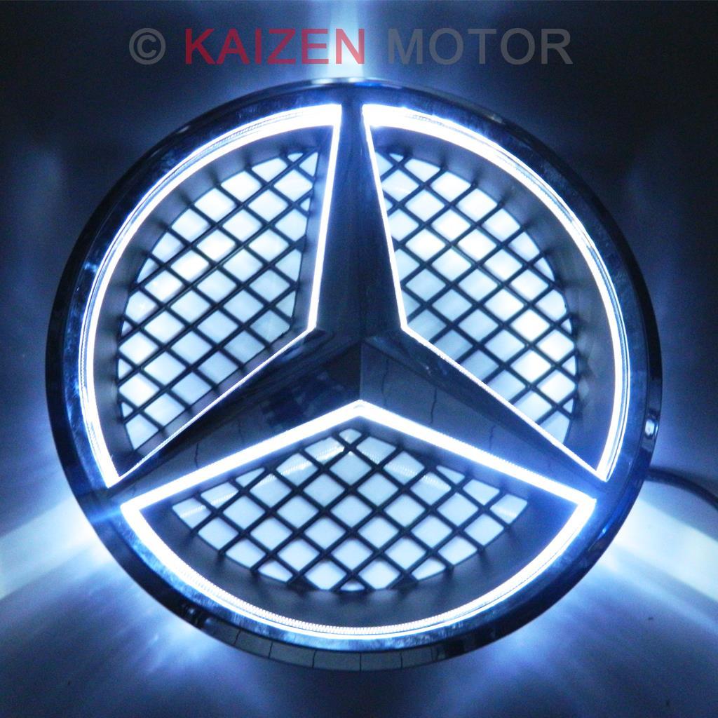 White Led Illuminated Star Kit For Mercedes Center Grille