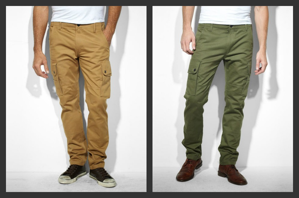 19605444992 Levi's Men's 508 Slim Fit Taper Cargo Pants Caraway and