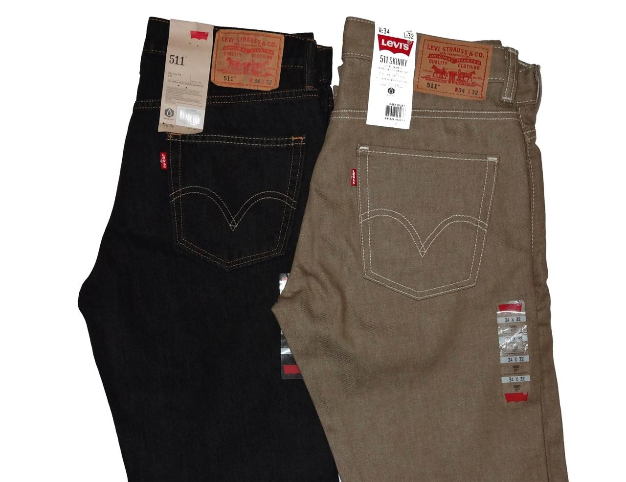 Levi's Men's 511 Skinny Fit Jeans 2 Colors 34 x 32 | eBay