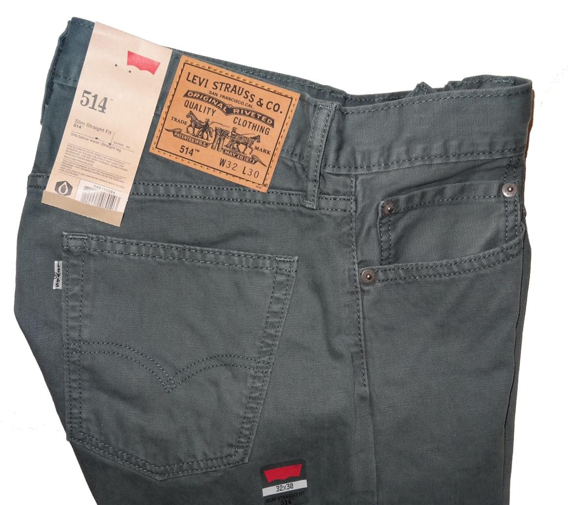 Levi's Men's 514 Slim Straight Fit Jeans 5 Colors Many Sizes