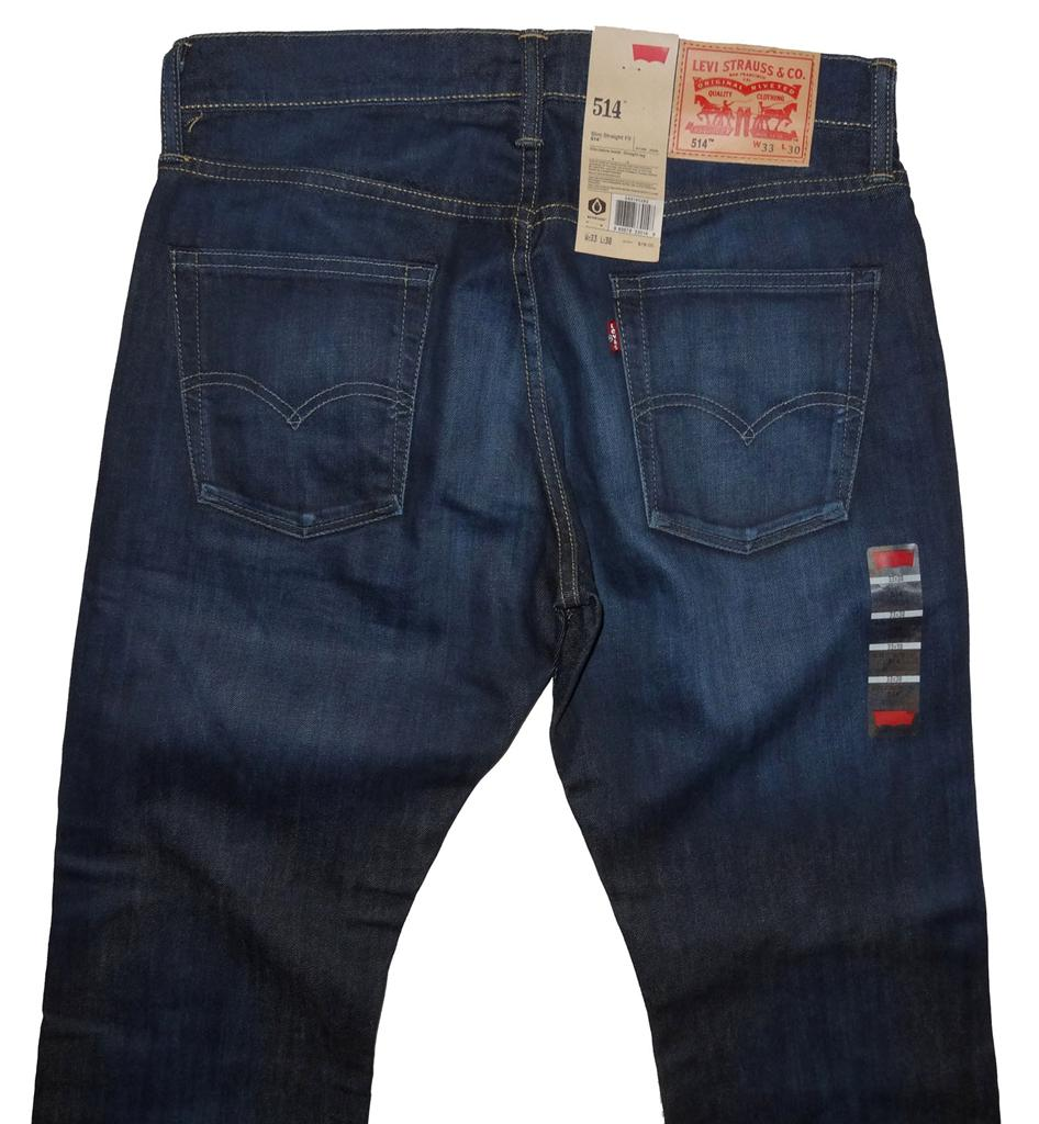 Levi's Men's 514 Slim Straight Fit Jeans Belted and ...