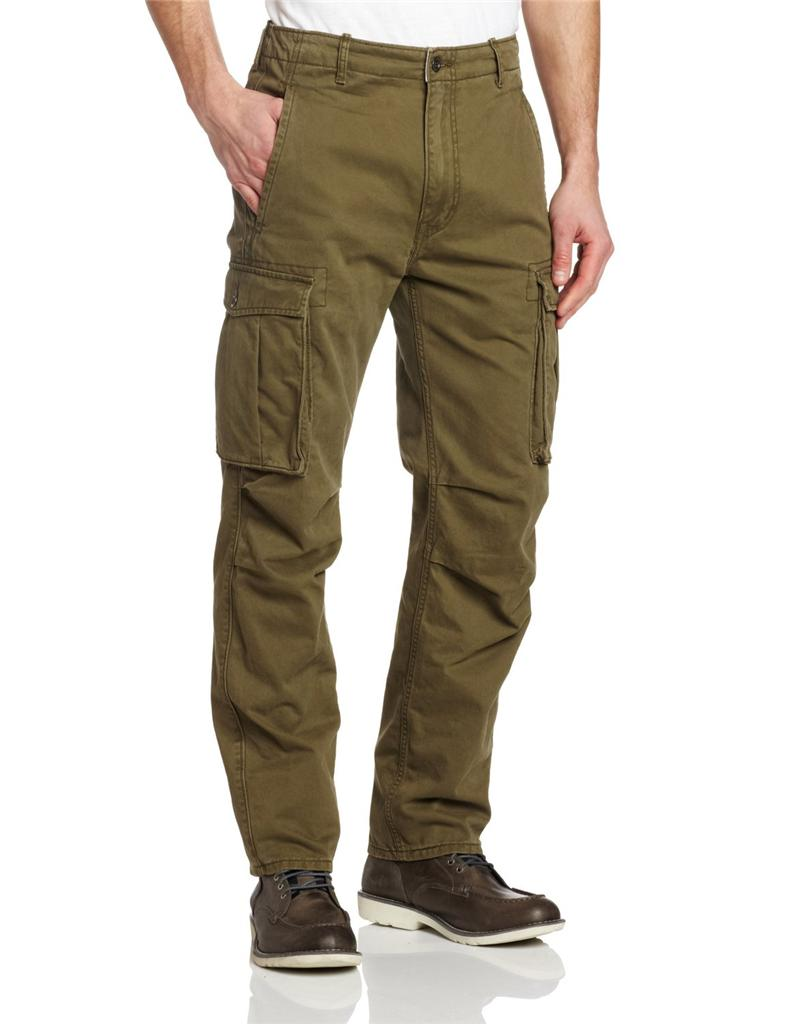 Levis Mens Relaxed Fit Ace Cargo Pants Black Beige Grey ...