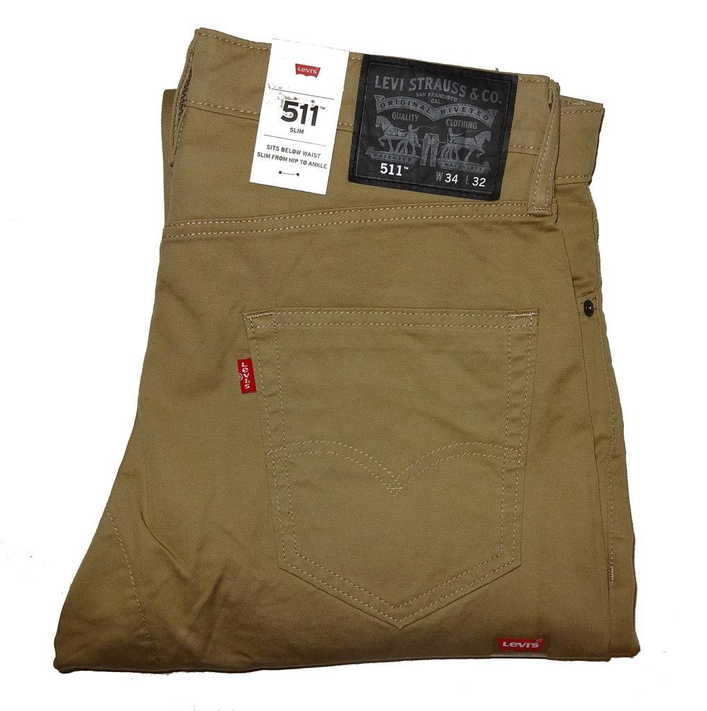 levi 39 s 511 slim fit commuter pants harvest gold 0079 nwt. Black Bedroom Furniture Sets. Home Design Ideas