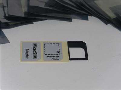 New Black iPhone 4 4S iPad 1st Gen 2nd Gen Micro Sim Card Adapter