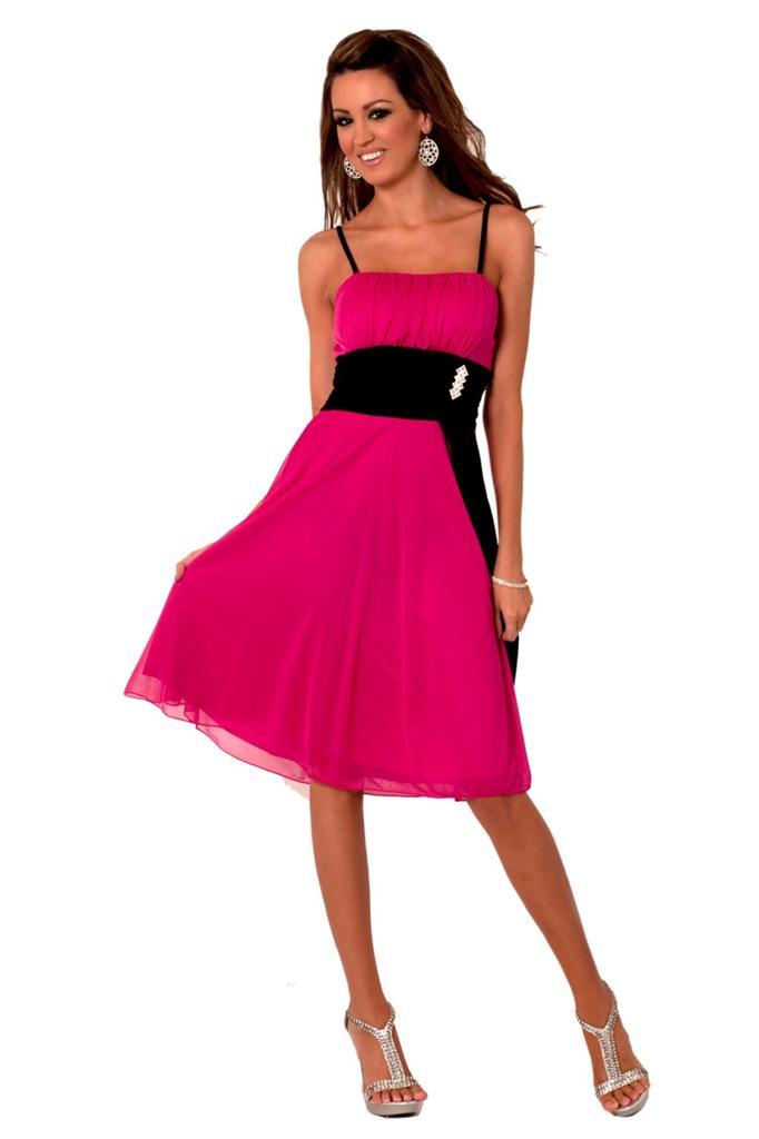 2481b8bcde6 robe pour mariage noir et fushia - Ma Jolie Robe de soirée