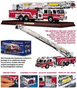 Franklin Mint American Fire Engine (132) Emergency One HP105 w/COA
