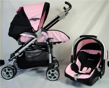 Baby Dreamer Stroller Car Seat Travel System Pink Black Ebay